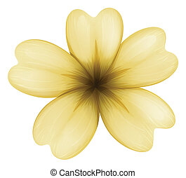 A light brown flower - Illustration of a light brown flower...