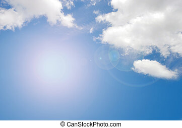 blank blue sky background - blank on blue sky for sample...