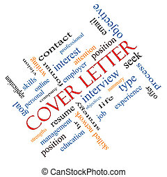 Cover Letter Word Cloud Concept Angled - Cover Letter Word...