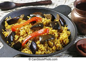 Eggplant Biryani - An Indian food - Eggplant Biryani - The...