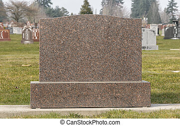 Blank Cemetery Tombstone - Tombstone in Cemetery