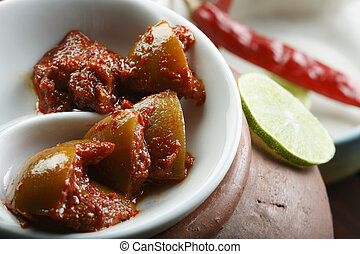 Hot Lemon Pickle - A popular spicy Indian Pickle made of...