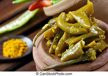 Chilli Pickle - A popular Indian pickle containing Chilli -...