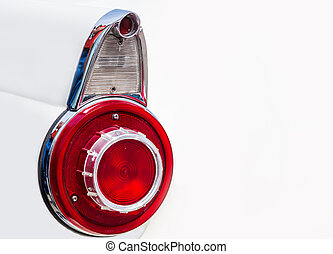Vintage car taillight - Backlights of an old vintage...
