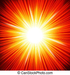 Star burst red and yellow fire. EPS 10 vector file included