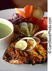 Kebab Platter from India - Kebab or originally kabab is a...
