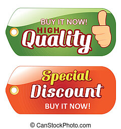 sales - a pair of colored icons with some text for sales...