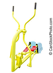Exercise equipment isolated on white background, clipping...