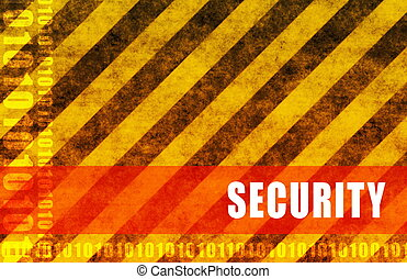 Security Abstract Background Warning Red as Alert