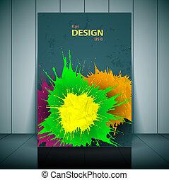 Vector dental brochure, flyer, magazine cover