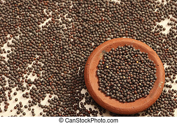 Mustard seeds are the small seeds from Europe - Mustard...