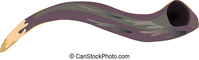 Shofar - Vector illustration Shofar - a horn used in jewish...
