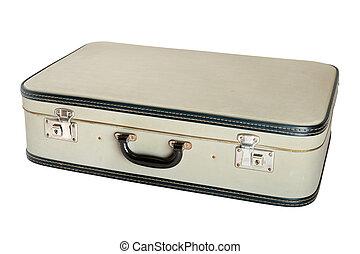 Vintage suitcase isolated on white background