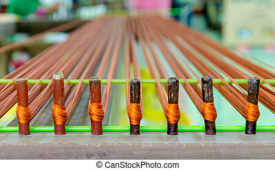 weaving thread for the textile industry.