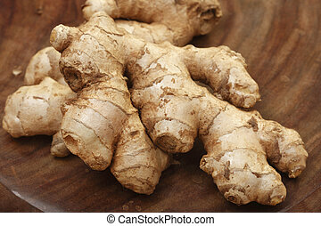 Ginger is a spice which is used for cooking. - Young ginger...
