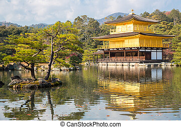 Kinkakuji Temple - Golden Pavilion Kinkakuji Temple in Kyoto...