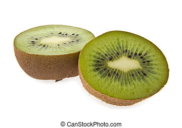 kiwis are isolated on a white background