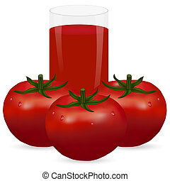 tomatoes and a glass of juice