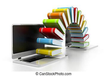 Internet education concept