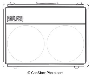 Black and White Valve Amplifier - A classic rock and roll...