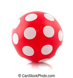 ball - Red ball with white speckles