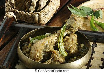 Gongura chicken - A spicy chicken curry - Gongura chicken is...