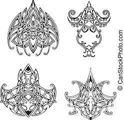 Symmetrical knot tattoo designs