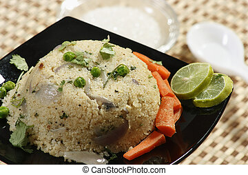 Upma is an Indian dish made of wheat rava - Upma is...