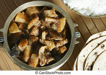 Tamil mutton vindaloo : A popular dish from Tamilnadu. -...