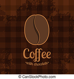 Tartan Background with Coffee Bean - Dark tartan background...