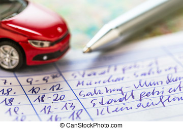 logbook for car