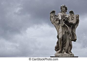 Angel - sculpture of the famous Ponte Sant Angelo in Rome by...