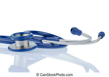 stethoscope against white background, symbol for...