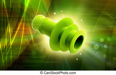 Spiral Ear Plugs in colour background