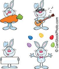 Rabbits Characters 6. Characters - Cute Rabbits Cartoon...