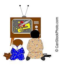 bothers, regarder, tv