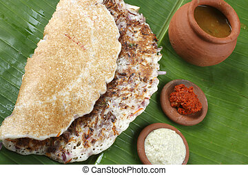Onion dosa is typically South Indian pancake. - Onion Dosa...