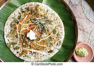 Methi dosa a pancake from South India - Methi(Fenugreek)...