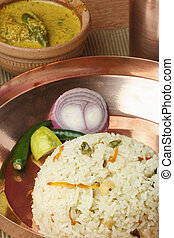 Ghee Bhatt - An Indian rice dish from Bengal - Ghee bhatt -...