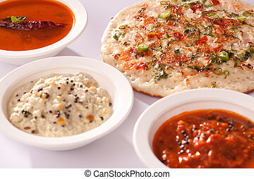 Onion Dosa - A spicy pancake from South India. - Onion Dosa...
