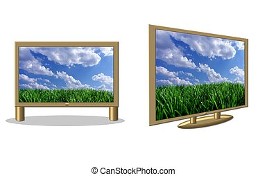 isolated flatscreen tvs