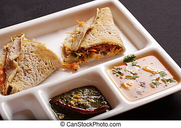 Ragi Dosa from South India - Ragi Dosa is a fermented crepe...