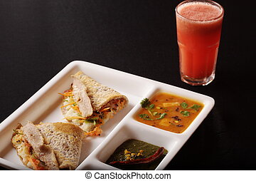 Ragi Dosa from South India