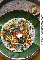 Methi dosa a pancake from South India - MethiFenugreek Dosa...