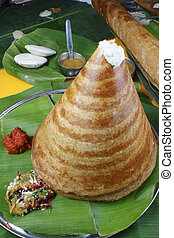 Ghee Roast Dosa a pancake from South India - Ghee Roast Dosa...