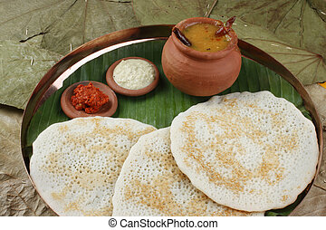 Set Dosa A pancake from South India - Set Dosa is a set of 3...