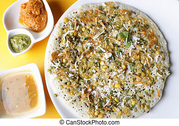 Mixed Dal Dosa A pancake from South India - Mixed dal dosa...