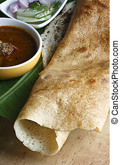 Plain Dosa A pancake from South India - Plain dosa is a...
