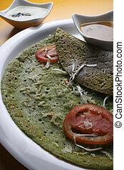 Palak Dosa - A Crispy Spinach pancake - Palak pancake is...