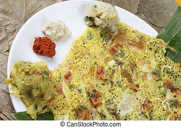 Tomato Dosa - A spicy pancake from South India - Tomato dosa...